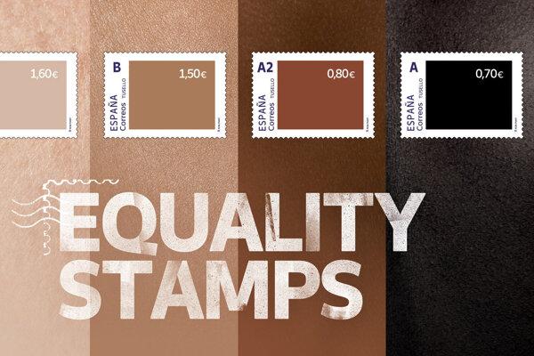 Španielska pošta vydala novú sériu protirasistických známok.
