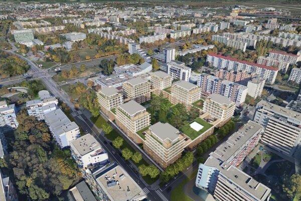 Vizualizácia projektu Nové centrum Ružinova