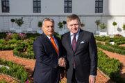 Viktor Orbán a Robert Fico.