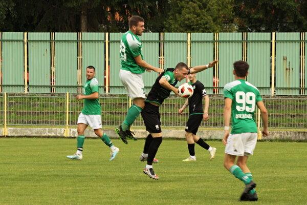 Momentka zo zápasu Prievidza - Trebatice.