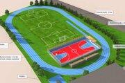 Plán rekonštrukcie areálu školy.