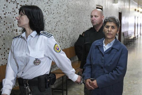 Irena Matová počas pojednávania.