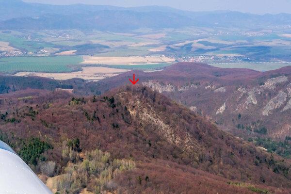 Letecký pohľad na hrad Teplica.