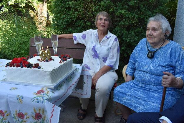 Pani Mária Poláková je najstaršou Humenčankou. Narodeniny oslávila v kruhu rodiny.