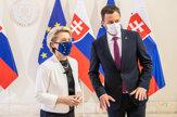 Von der Leyenová prišla na Slovensko potvrdiť schválenie plánu obnovy