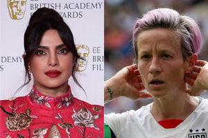 Priyanka Chopra Jonas (vľavo) a Megan Rapinoe sa stali ambasádorkami Victoria´s Secret.