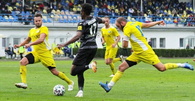 Piešťany v zápase Slovnaft Cupu proti D. Strede