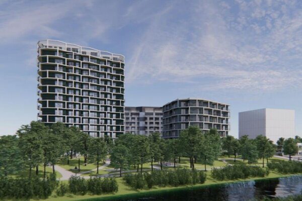 Vizualizácia projektu Petržalka City.