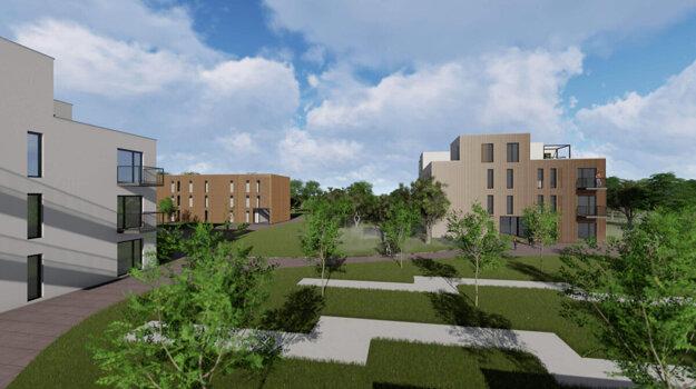 Vizualizácia možnej podoby nájomných bytov.