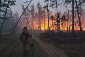Dobrovoľný hasič v Jakutsku.