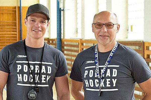 Ľubomír Pichoňský (vpravo) dlhé roky trénoval mládež v Poprade.