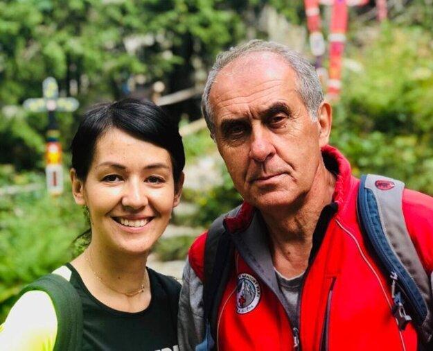 Jaroslav Švorc s dcérou Lenkou.