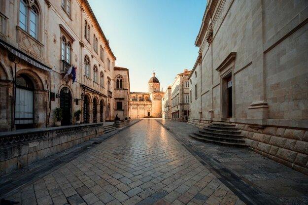 Ulice v starom centre Dubrovníka