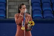 Belinda Benčičová vyhrala zlato na OH Tokio 2020.