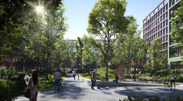Nový Istropolis ponúkne aj byty a pestrú občiansku vybavenosť.