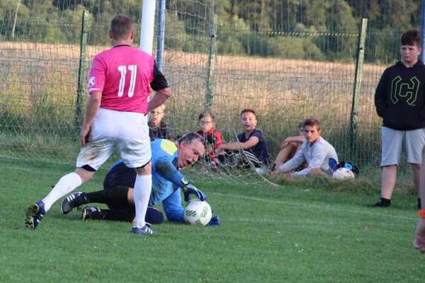 Brankár Tvrdošína Turčák niekoľkokrát podržal svoje mužstvo.