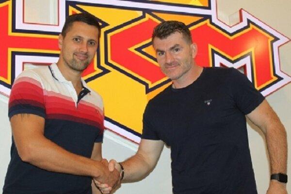 Športový riaditeľ mládeže Lukáš Jurík a nový tréner juniorov Jozef Budaj.