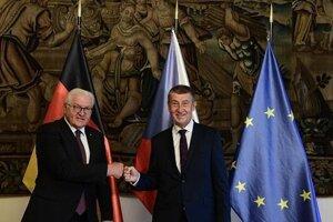 Premiér Babiš a prezident Steinmeier