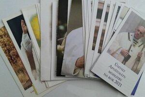 Kompletné obrázky pápežských zmyslov modlitby od roku 1988 po dnešok.