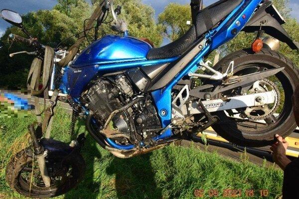 motocykel po tragickej nehode.