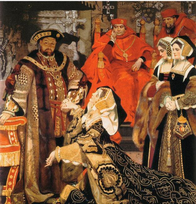 Henrich VIII. ukončil svoje prvé manželstvo s Katarínou Aragónskou.