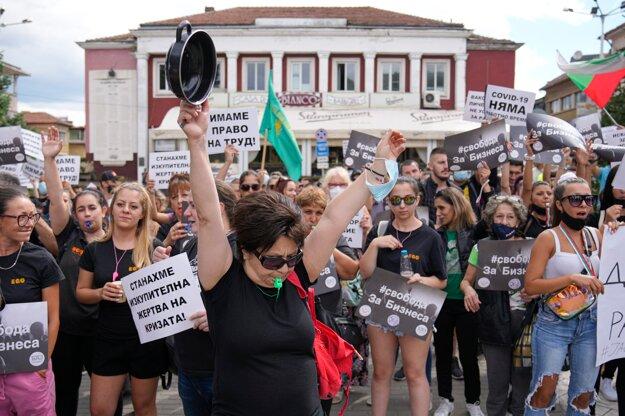 Protest v centre Sofie.