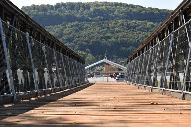 Sektor OTP sa bude nachádzať v areáli pri dočasnom mostom. Podobný výhľad budú mať návštevníci.