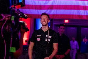 Judd Trump na turnaji v biliarde US Open 2021.