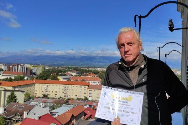 Správca popradského kostola a držiteľ zaujímavého rekordu Rastislav Ovšonka.