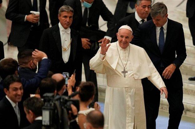 Pápež František v Ríme.