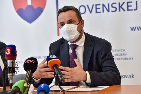 Predseda Správy štátnych hmotných rezerv Ján Rudolf.