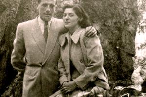 Alfréd Wetzler s manželkou Etelou krátko po vojne v Karlových Varoch.