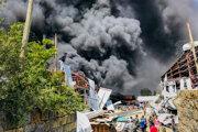Mraky dymu po náletoch etiópskej armády v zväzovom štáte Tigraj.