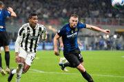 Momentka zo zápasu Inter Miláno - Juventus.