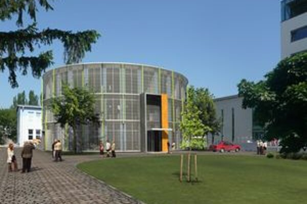 Oválna budova sa pripojí na už existujúcu knižnicu.