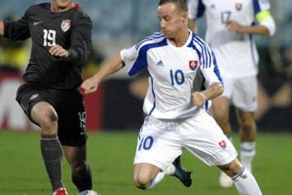 """V sobotu v zápase """"áčka"""" s USA (1:0) bol Stoch v akcii do 61. minúty."""