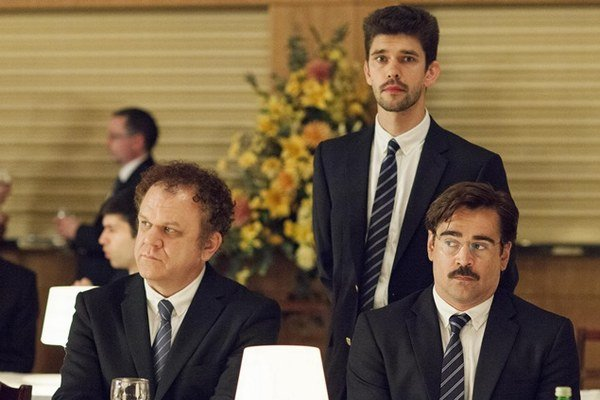 John C. Reilly, Ben Whishaw  a Colin Farrell v súťažnom  filme Homár.