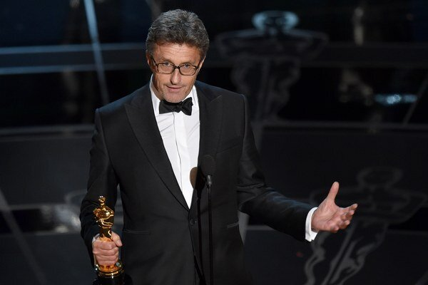 Poľský režisér Pawel Pawlikovski ďakuje za Oscara pre Idu.