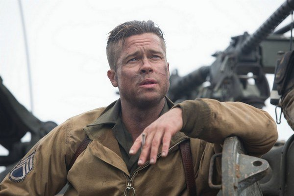 Brad Pitt v hlavnej úlohe filmu Železné srdce.