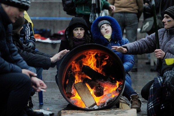 Fotografia Filipa Singera zo série Začiatok z Kyjevu.