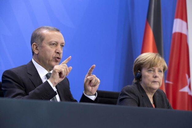 Erdogan a Merkelová