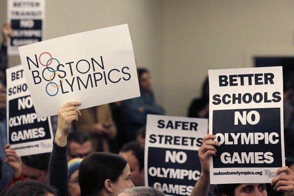 Proti kandidatúre Bostonu na usporiadanie OH 2024 boli aj obyvatelia mesta.