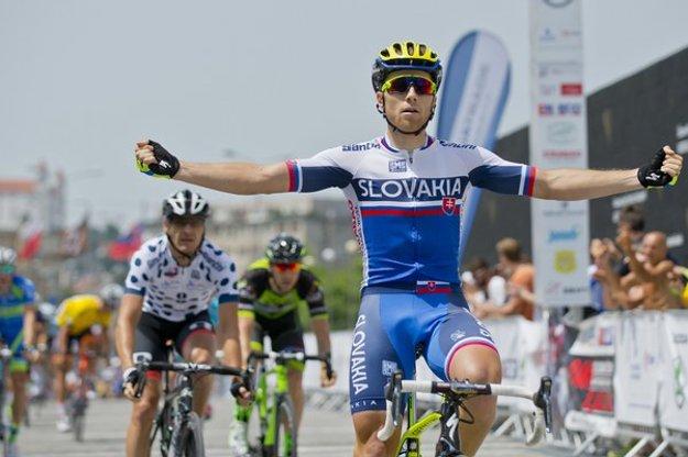 V slovenskom drese sa Michael Kolář tešil z etapového víťazstva na tohtoročných pretekoch Okolo Slovenska.