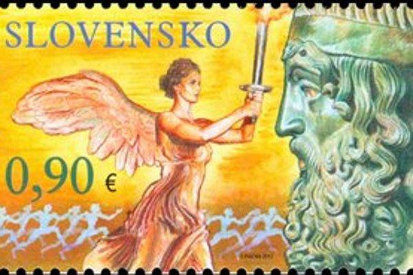 Slovenská olympijská známka je tento raz, podobne ako známky iných krajín, bez charakteristických symbolov.