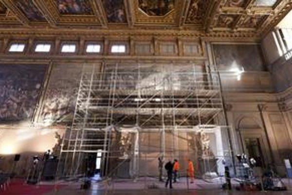 Da Vinciho freska by mala byť schovaná v jednej z častí známeho florentského Palazzo Vecchio.