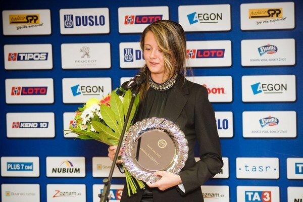 Kužmová vyhrala v roku 2012 prestížne ocenenie Talent roka.