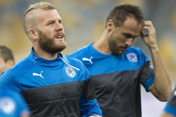Adam Nemec vľavo na zraze národného tímu.