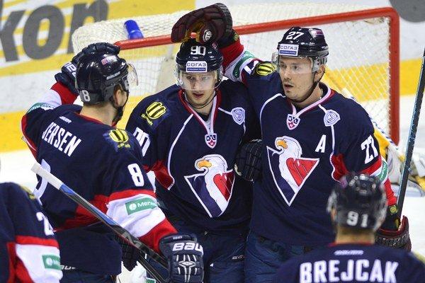 Hokejisti Slovana Bratislava nezopakovali výkon z Petrohradu. S Jokeritom prehrali 0:4.
