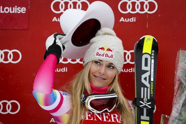 Lindsey Vonnová vyhrala preteky Svetového pohára po 22 mesiacoch.