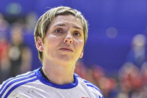 Lýdia Jakubisová bola v zápase proti Srbsku najlepšou strelkyňou. Dala osem gólov.